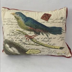 Newport Bird Burlap Pillow